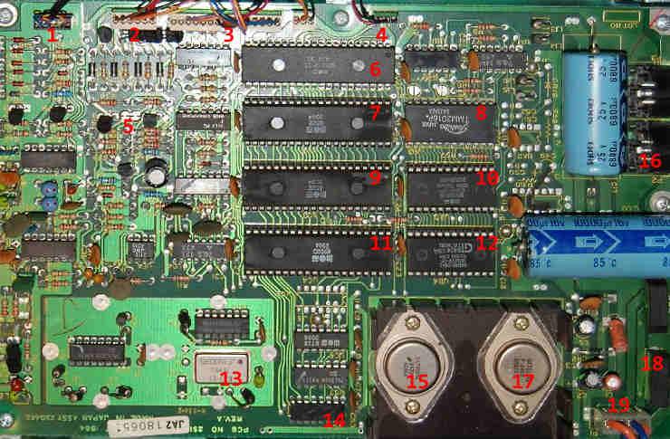 Commodore C1541 disket sürücü anakartı